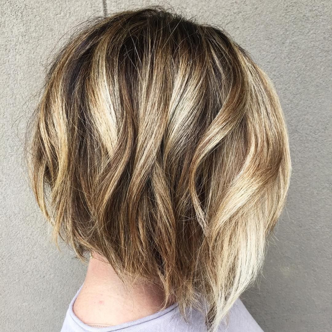 The Best Bob Haircut With Blonde Highlights Shoulder Length Hair Pictures