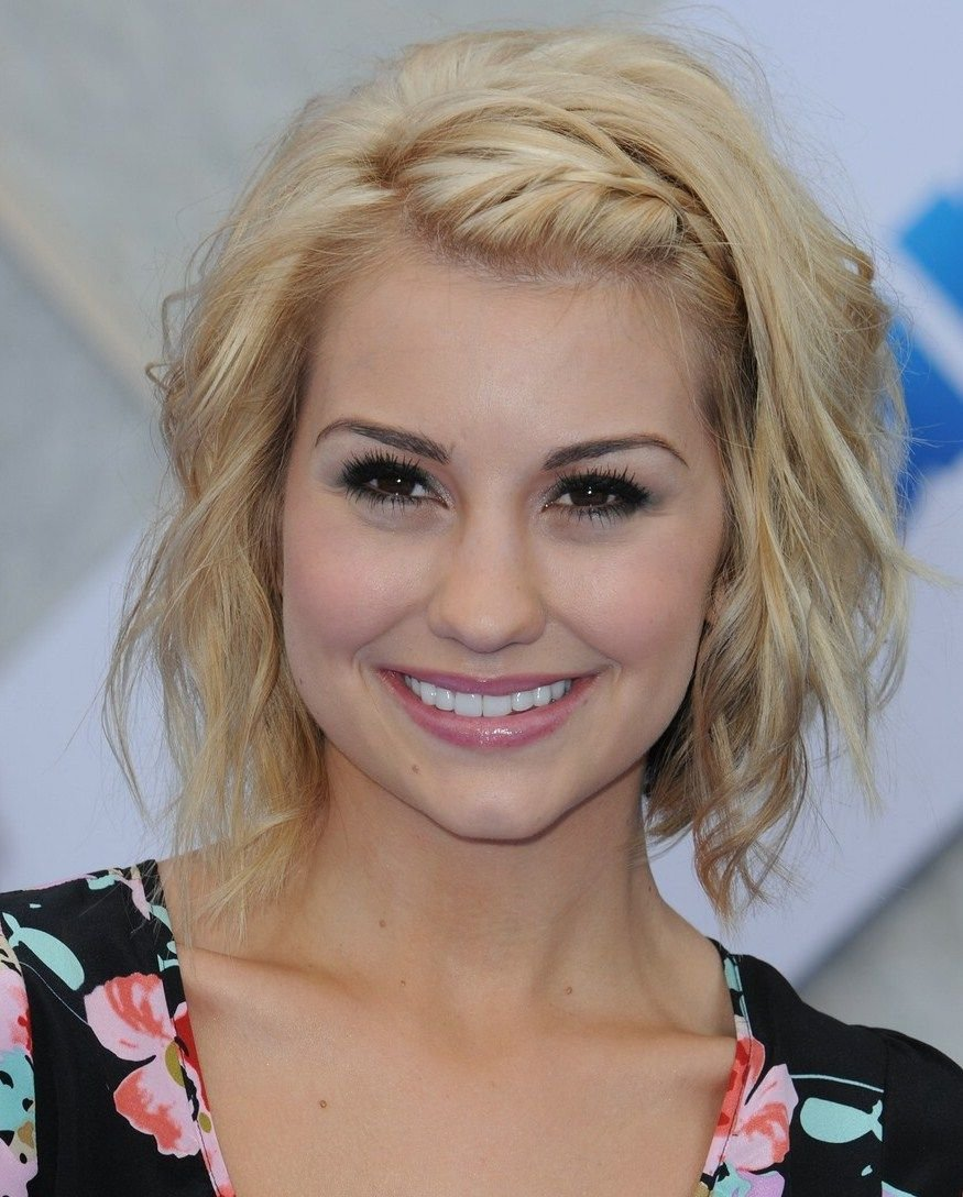 The Best Wavy Bob With Braided Side Bangs Molly Pinterest Pictures