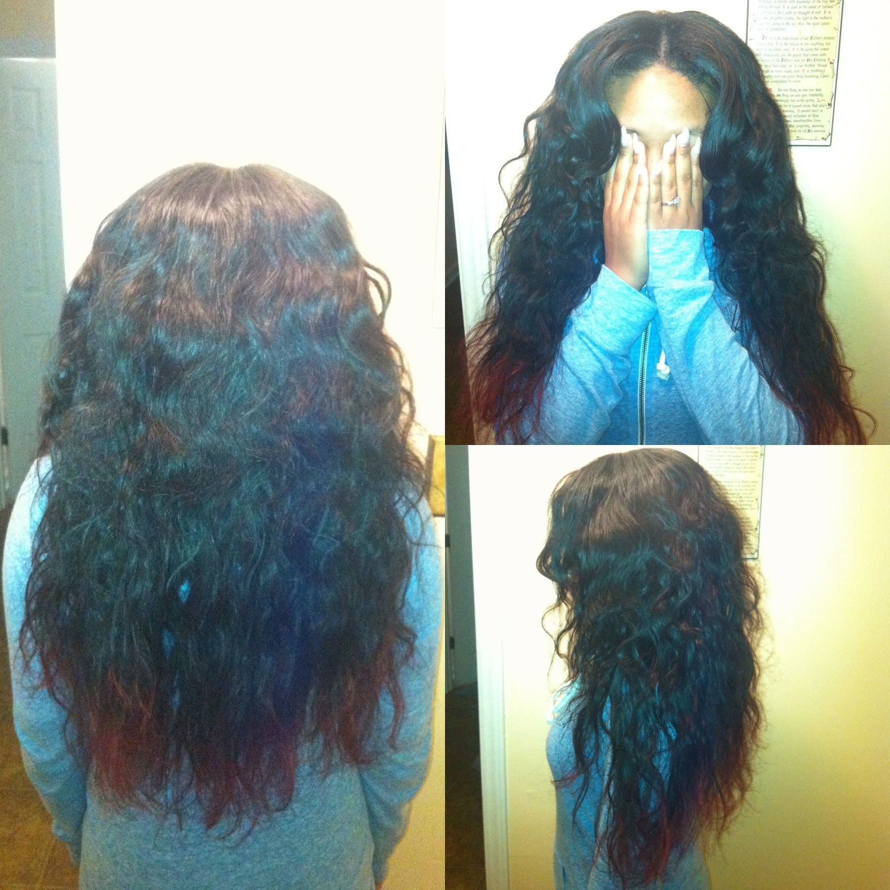 The Best Partial Sew In Body Wave Brazilian Hair Done By Me Hair Pictures