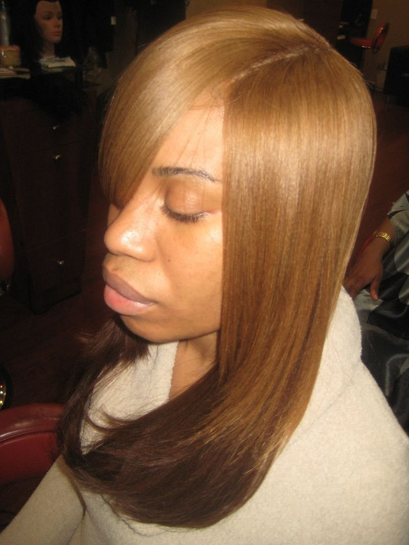 The Best Full Sewn In Hair Weave Invisible Part Weave Locks To Pictures