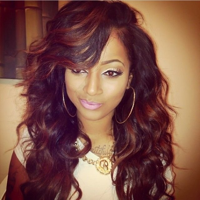 The Best Curly Weave Hairstyles With Side Bangs Hair Styles Pictures