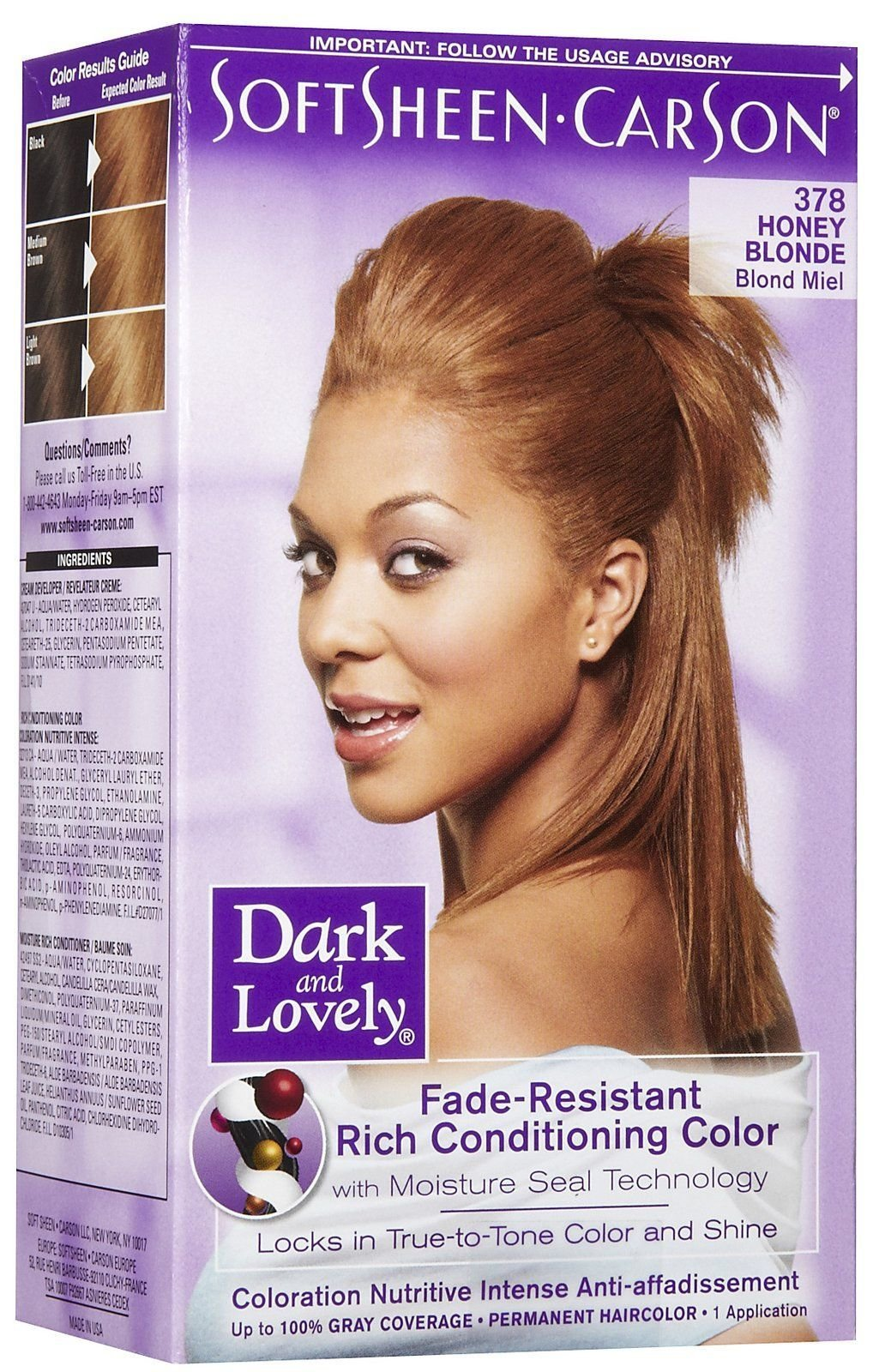The Best Dark And Lovely Honey Blonde 378 100 Gray Coverage Pictures