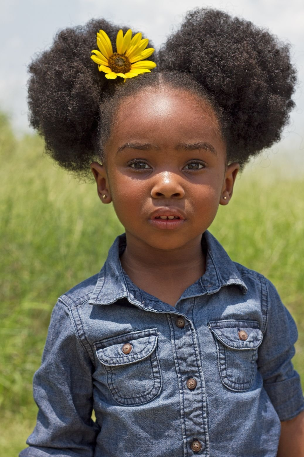 The Best Beautiful Little Black Girl With Afro Puffs Kids Hair Pictures