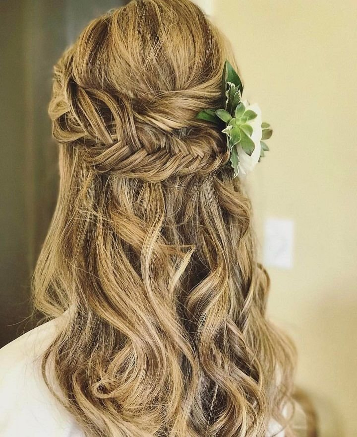The Best Pretty Half Up Half Down Hairstyles Partial Updo Wedding Pictures