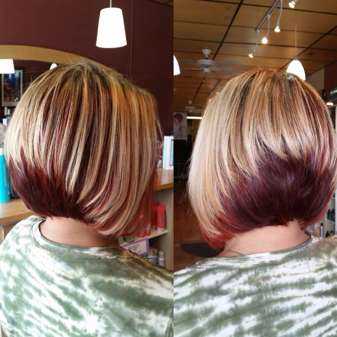 The Best Two Tone Stack Bob Hair Colour Pinterest Hair Hairstyles And Hairstyle For Women Pictures