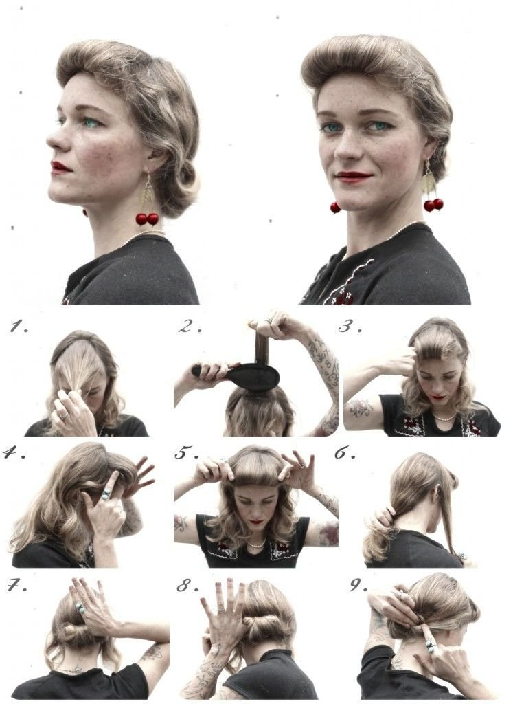 The Best How To Hair Girl Diy Hair Friday 4 Holiday Ready 1940 S Pictures