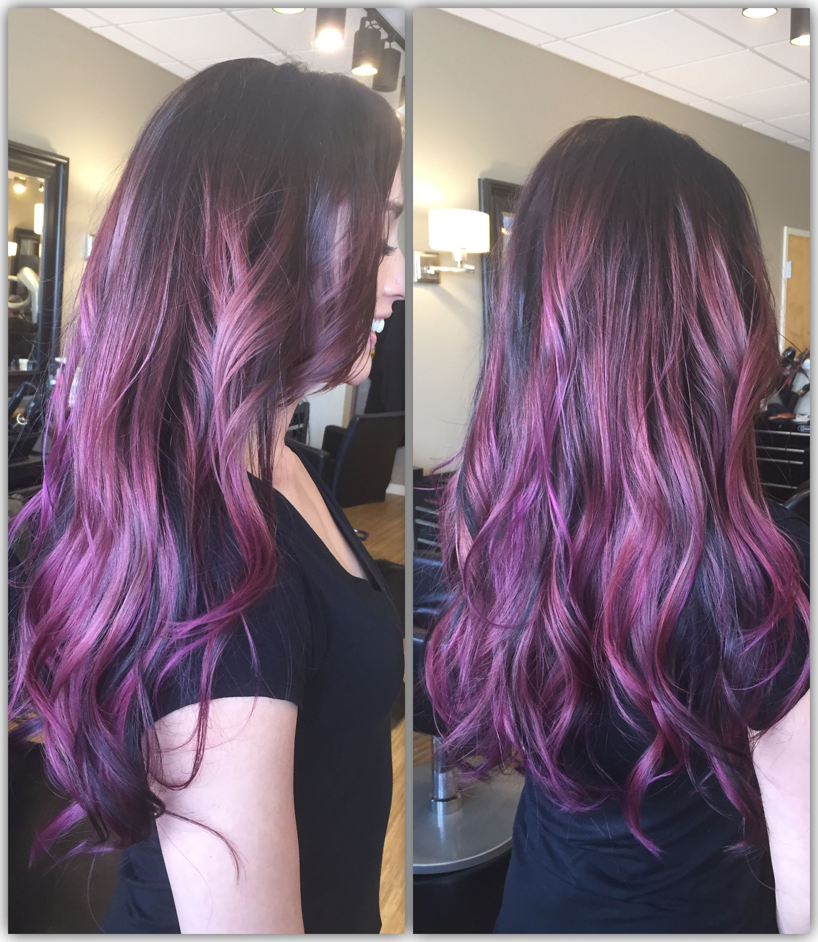 The Best Purple Ombré With Goldwell Elumen Unicorn Hair Pictures