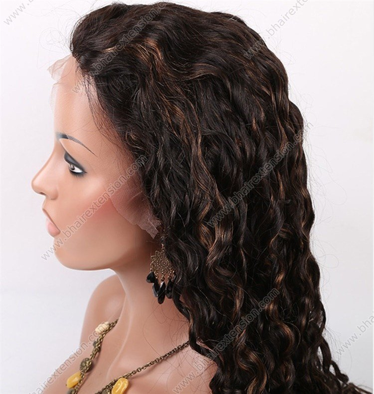 The Best 1B 30 Highlight Color Full Lace Wig Curl Style Remy Human Pictures
