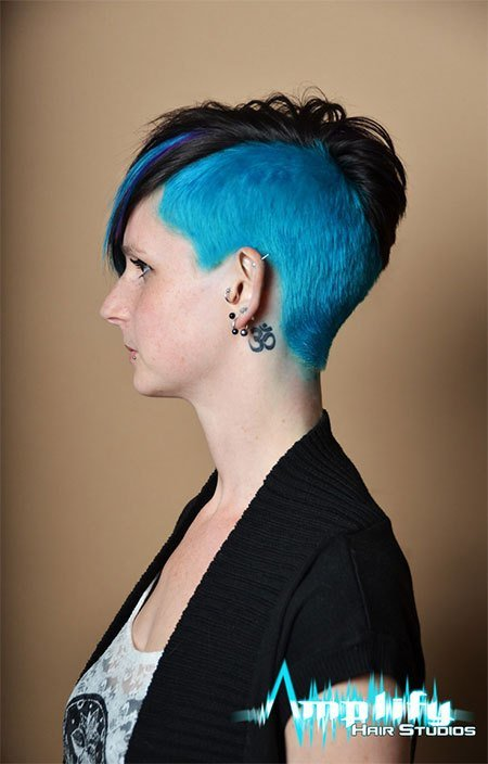 The Best 30 New One Sided Shaved Hairstyles Haircuts For Girls Pictures