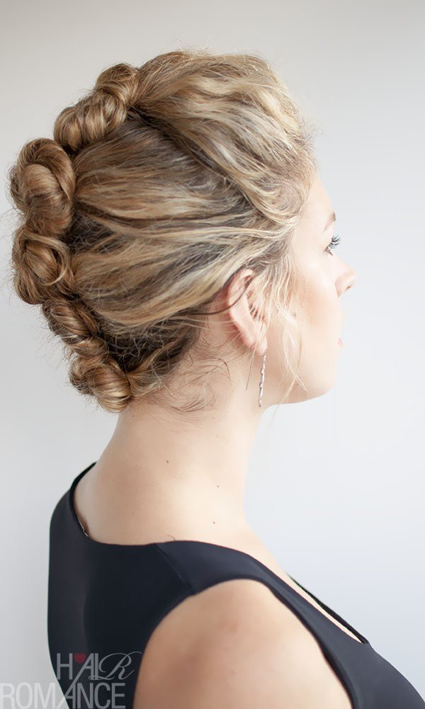 The Best Curly Hair Tutorial The French Roll Twist And Pin Pictures
