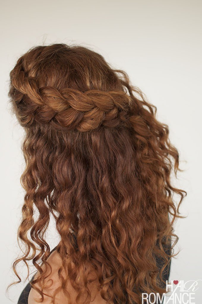 The Best Curly Hair Tutorial The Half Up Braid Hairstyle Hair Pictures