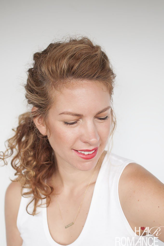 The Best Easy Everyday Curly Hairstyle Tutorials – The Curly Side Braid Pictures