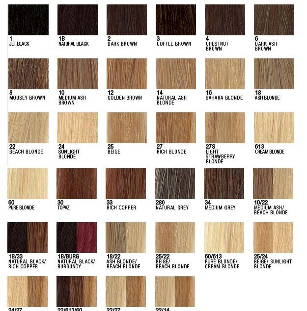 The Best Hair Extension Colour Chart Love Afro Cosmetics Pictures