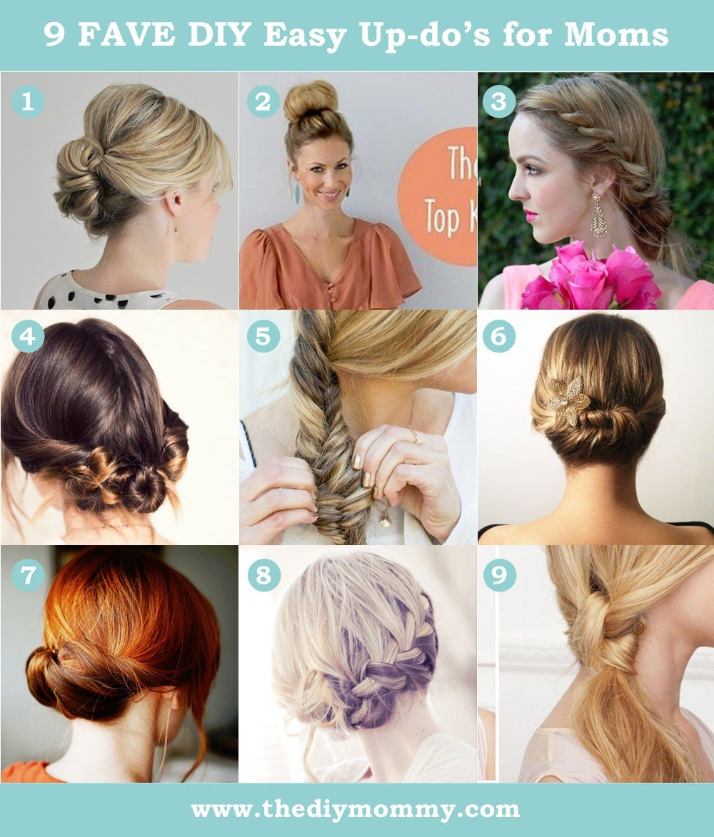 The Best 9 Favourite Easy Updos For Moms Pictures