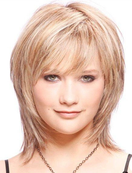 The Best Medium Length Layered Straight Affordable Remy Hair Wig Pictures