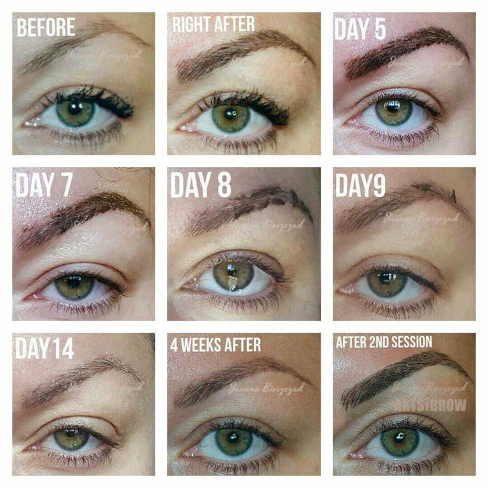 The Best Eyebrow Healing Process Arlington Microblading Tx Pictures