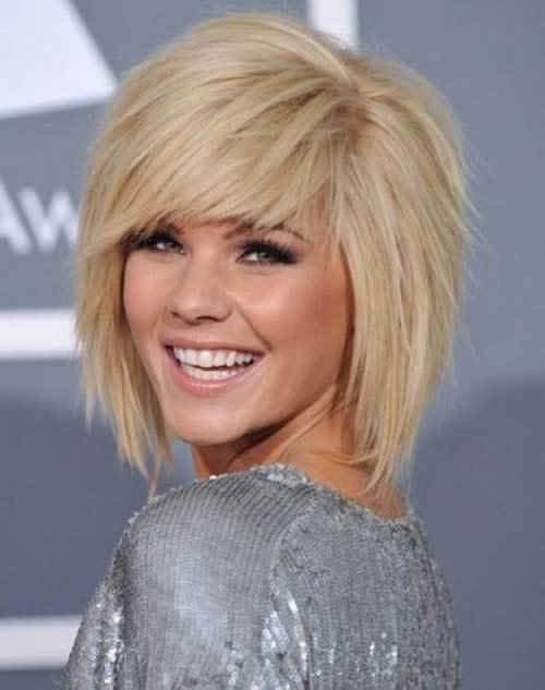 The Best 15 Medium Layered Bob With Bangs Bob Hairstyles 2018 Pictures
