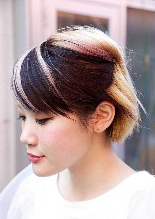 The Best Two Tone Hair Color For Short Hair Short Hairstyles 2017 2018 Most Popular Short Pictures