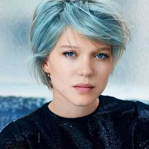 The Best 10 New Blue Pixie Cut Short Hairstyles 2017 2018 Pictures