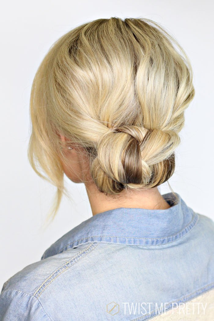 The Best 2 Minute Braided Bun Twist Me Pretty Pictures