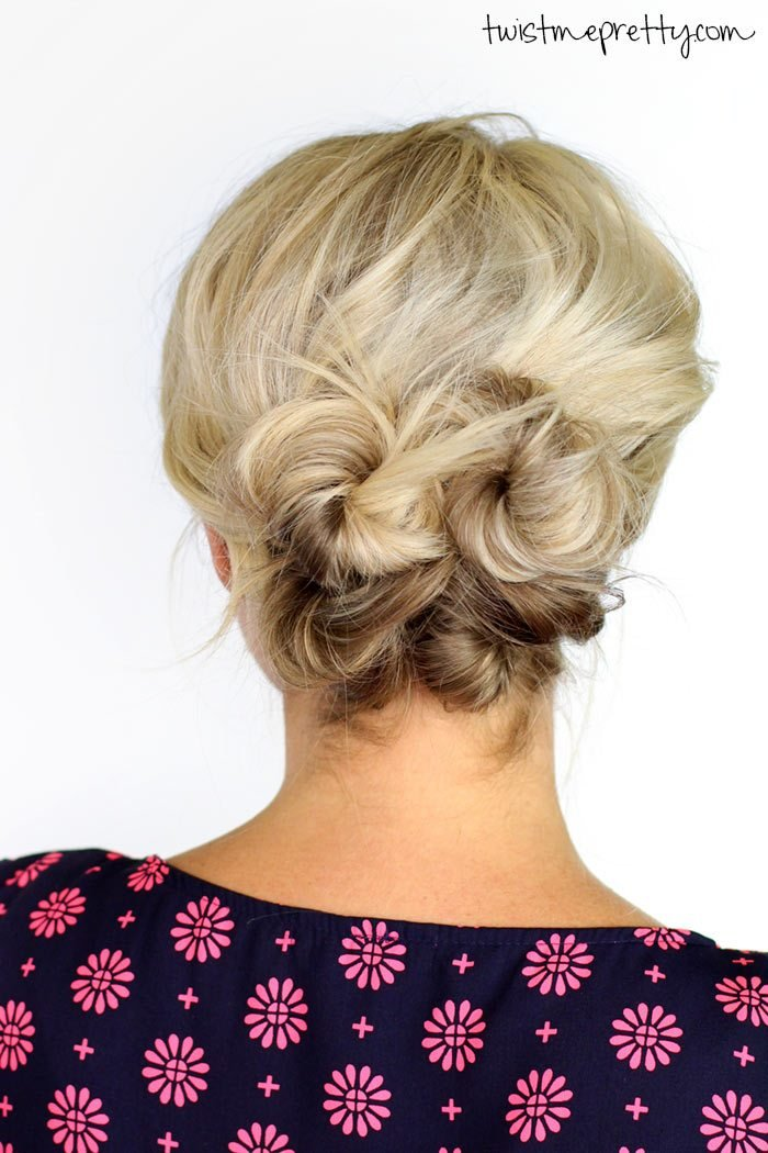 The Best Knotted Updo For Short Hair Twist Me Pretty Pictures