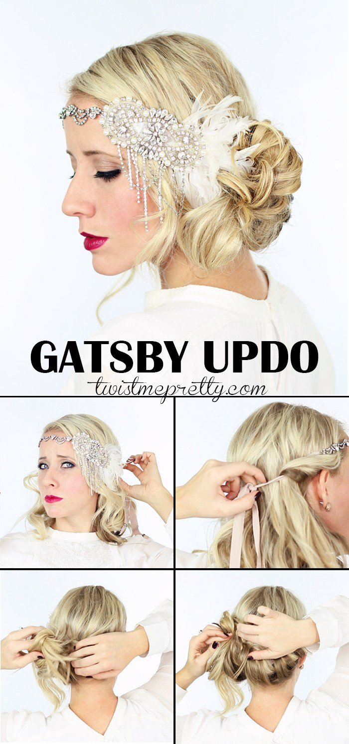 The Best 2 Gorgeous Gatsby Hairstyles For Halloween Or A Wedding Twist Me Pretty Pictures
