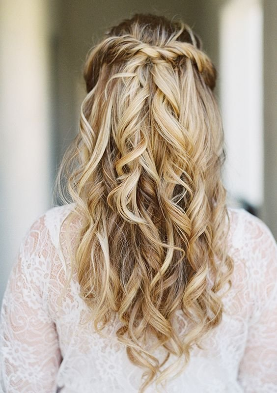 The Best Simple Half Up Half Down Wdding Hairstyle Idea Via Lane Dittoe Photography Pictures