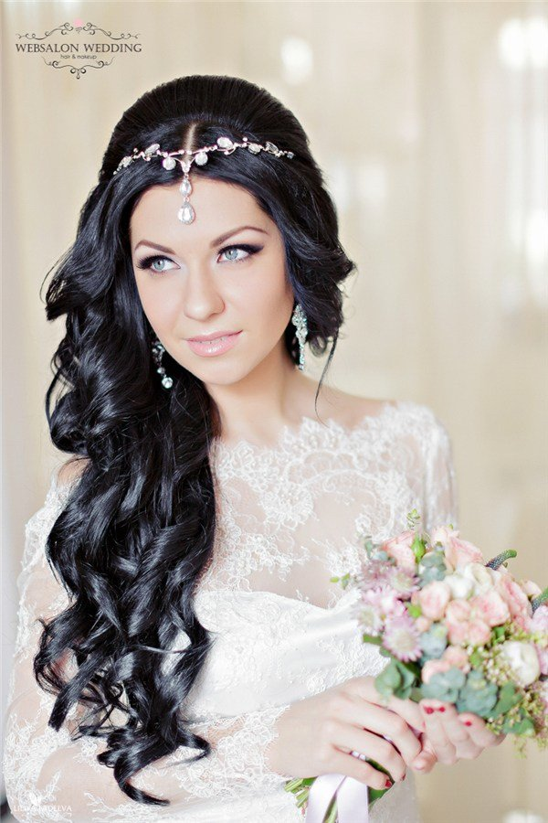 The Best Top 25 Stylish Bridal Wedding Hairstyles For Long Hair Deer Pearl Flowers Pictures