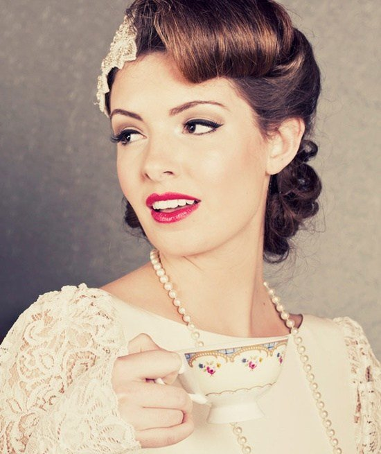 The Best 10 Vintage Wedding Hair Styles Inspiration For A 1920S Pictures