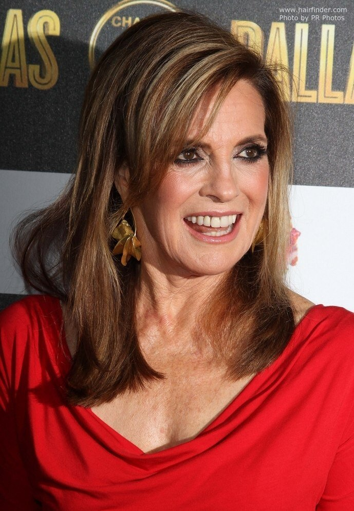 The Best Linda Gray Aged Over 70 Long Hairstyle For A Youthful Pictures