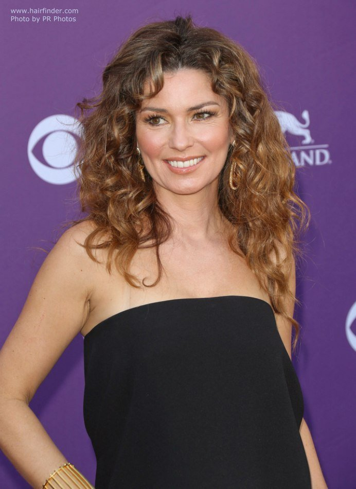 The Best Shania Twain In Her Late Forties Long Hairstyle With Pictures