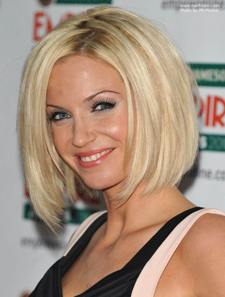 The Best Sarah Harding Bob Haircut With Sides That Fall Under The Chin Line Pictures