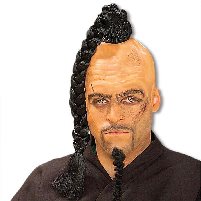 The Best Mongolian Warlord Wig Chinese Warrior Ponytail Wig Pictures