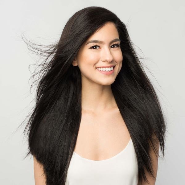 The Best Clip In Hair Extensions Off Black Color 1B 120 Grams Pictures