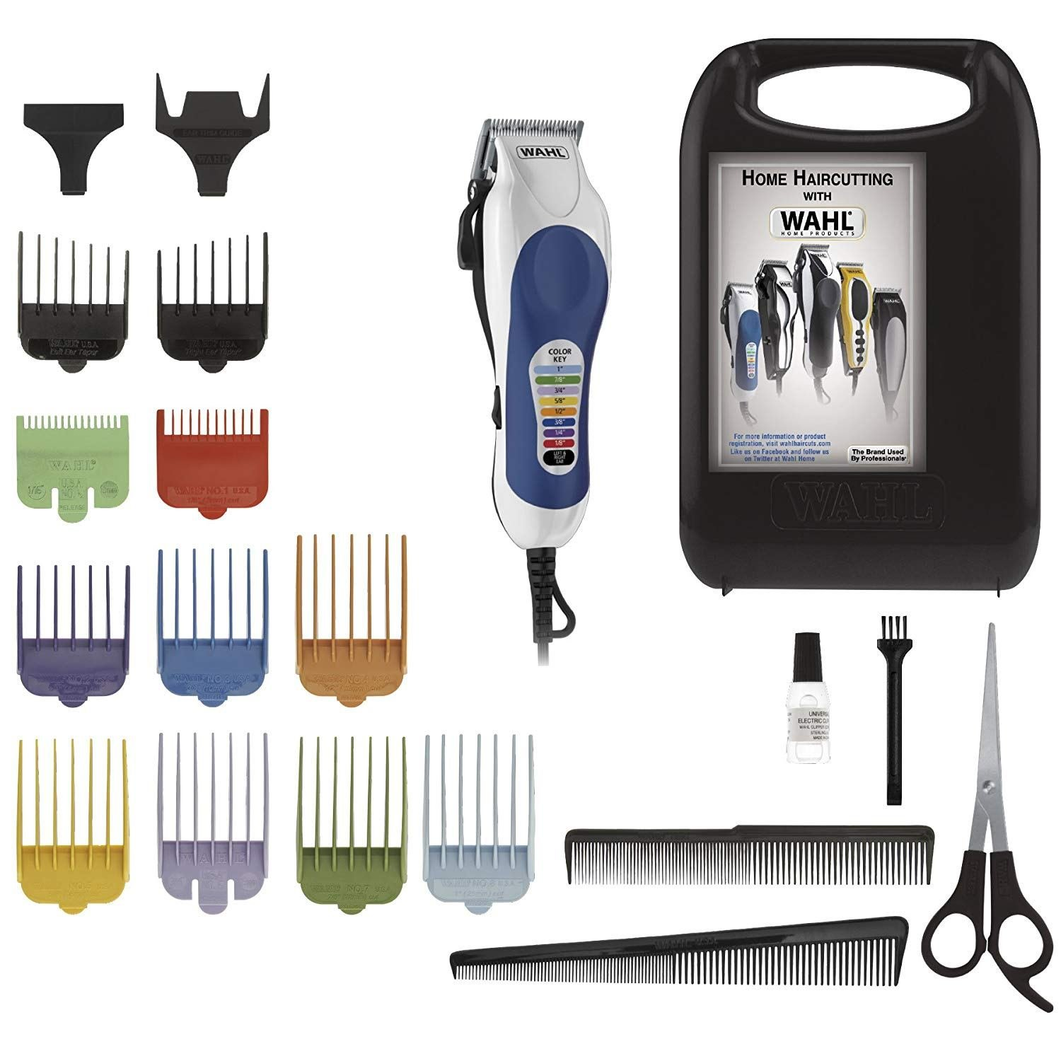 The Best Wahl Color Pro 20 Piece Complete Haircutting Kit Self Pictures