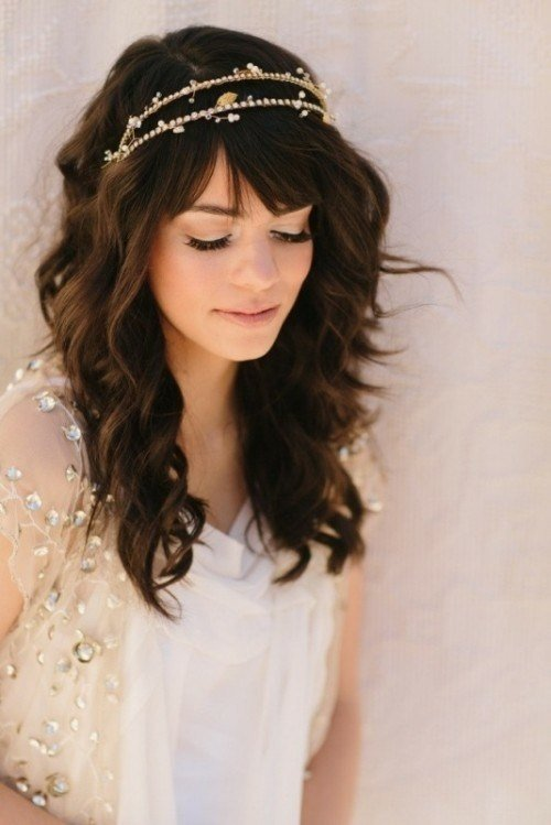 The Best Fringe Wedding Hairstyles Elle Hairstyles Pictures