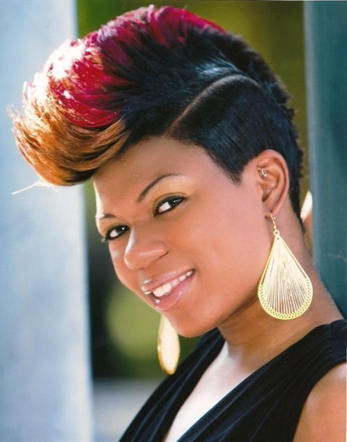 The Best Mohawk Hairstyles For Black Women Both Short And Long Hair Hairstyle For Women Pictures