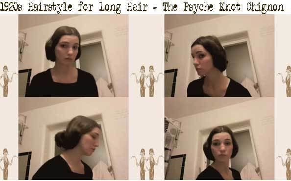 The Best 1920S Hairstyle For Long Hair – The Psyche Knot Chignon Pictures