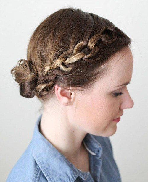 The Best 20 Easy Updos For Medium Hair Pictures