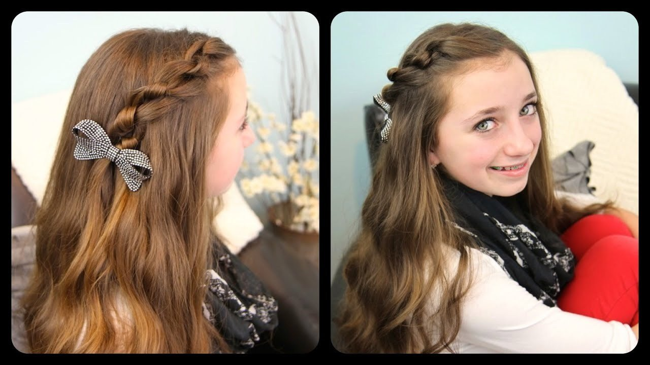 The Best The Knotted Pullback Cute Girls Hairstyles Youtube Pictures