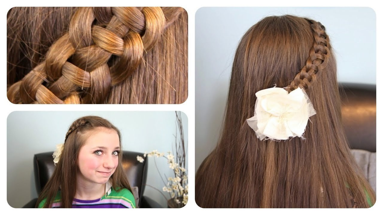 The Best 4 Strand Slide Up Braid Cute Girls Hairstyles Youtube Pictures