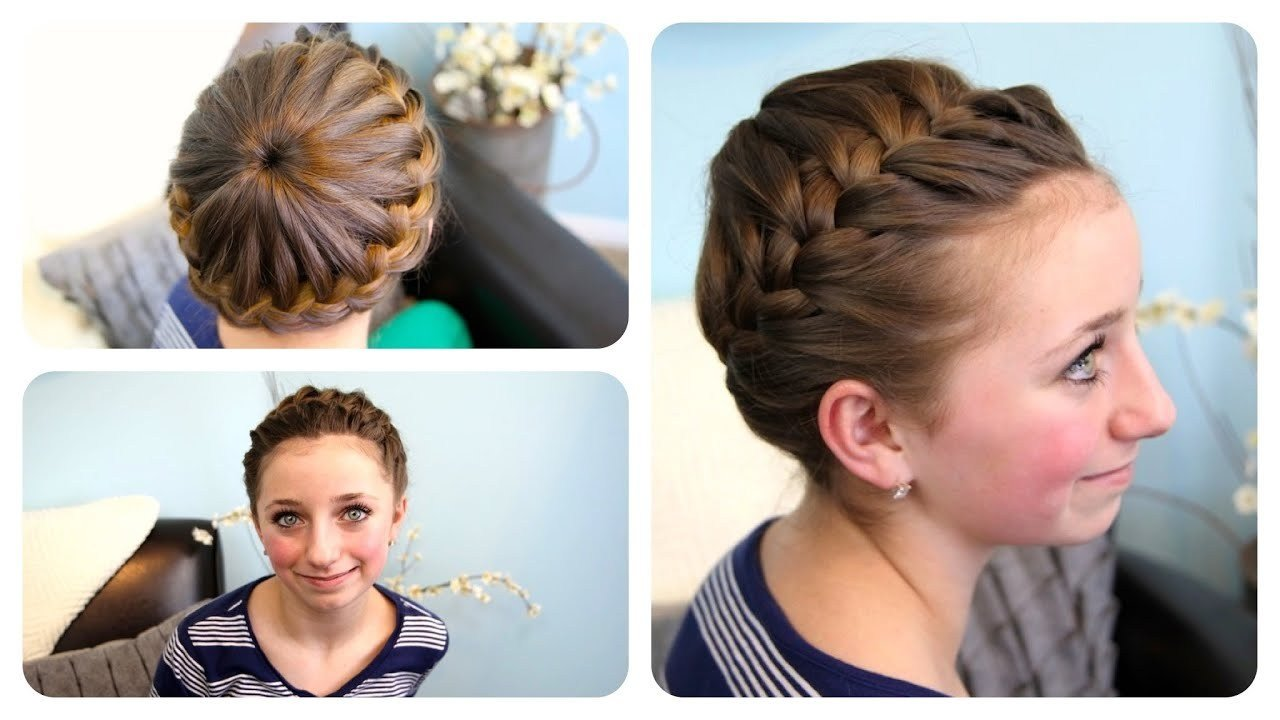 The Best Starburst Crown Braid Updo Hairstyles Cute Girls Hairstyles Youtube Pictures