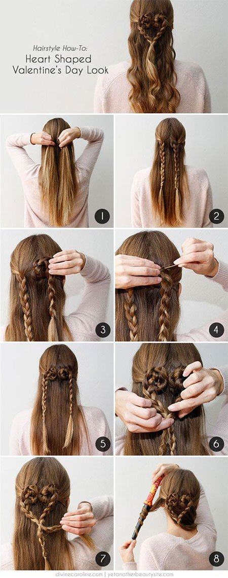 The Best Easy Valentine S Day Hairstyle Tutorials For Beginners Pictures