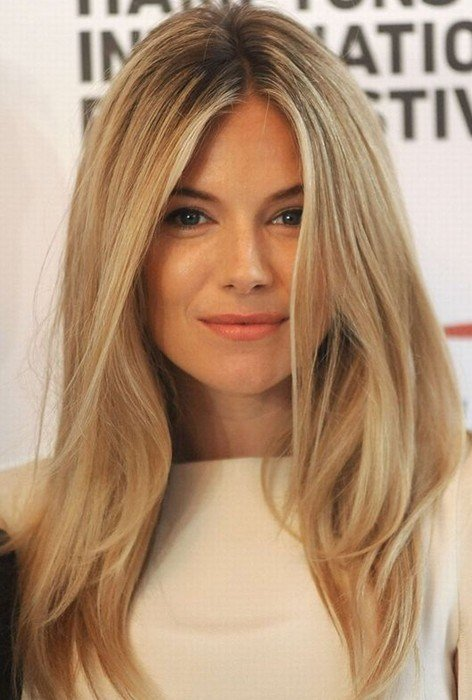 The Best Sienna Miller Hair Style Blonde Straight Hair Popular Pictures