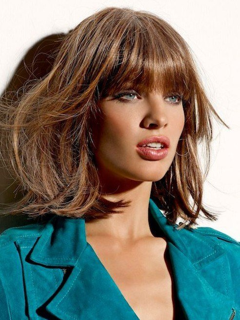 The Best Enhancing Your Face Shape Using Medium Hairstyles With Bangs 2014 Pictures