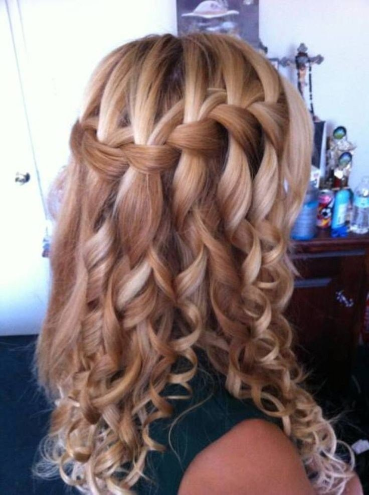 The Best 11 Waterfall French Braid Hairstyles Long Hair Ideas Pictures