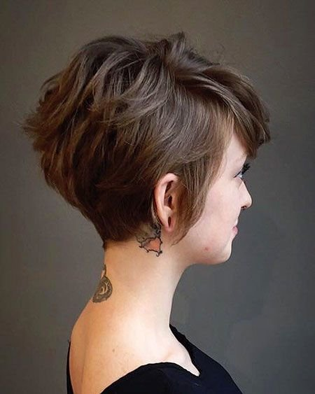 The Best 10 Short Brown Hairstyles With Fizz Short Pictures