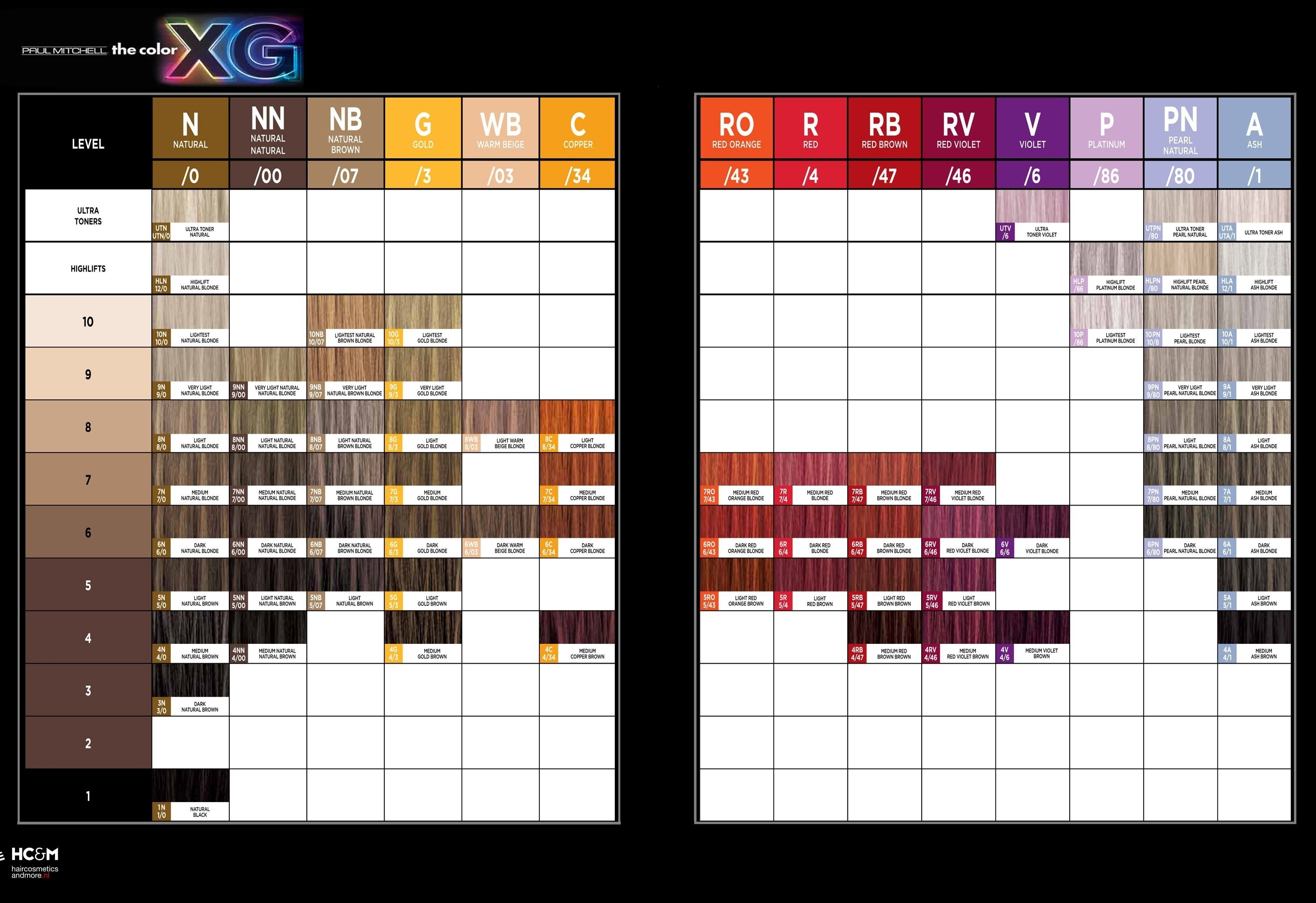 The Best Paul Mitchell Hair Color Chart World Of Printables Pictures