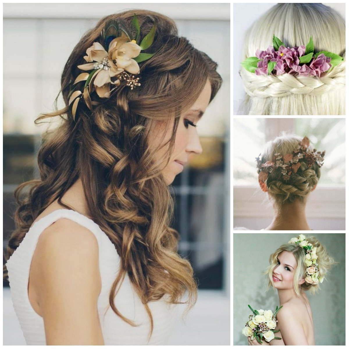 The Best Wedding Hairstyles With Flowers Pictures