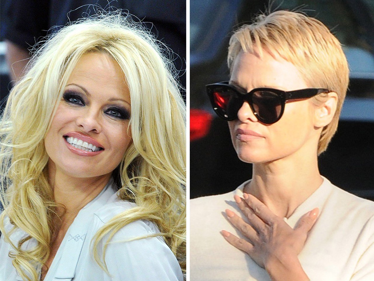 The Best Pamela Anderson Chops Baywatch Hair Into Pixie Cut Pictures